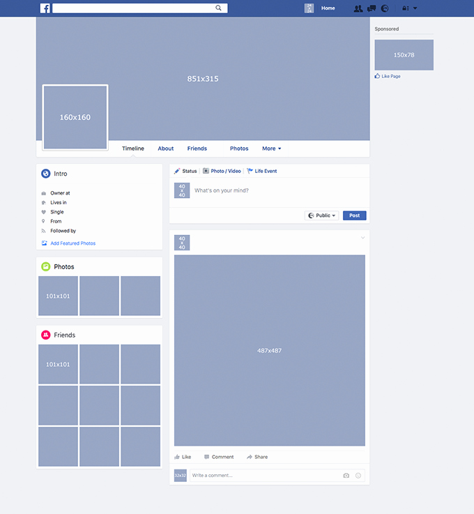 Facebook Post Template for Word Fresh Template