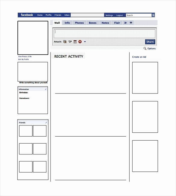 Facebook Post Template for Word Lovely Template Pdf