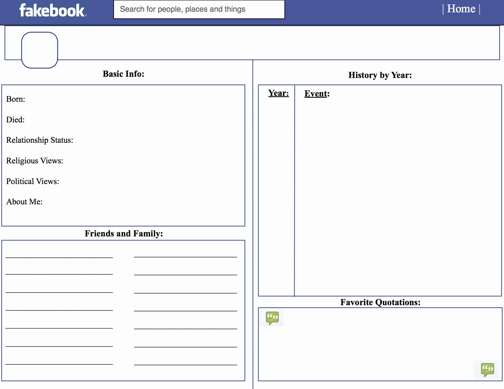 Facebook Post Template for Word Luxury Fakebook Template