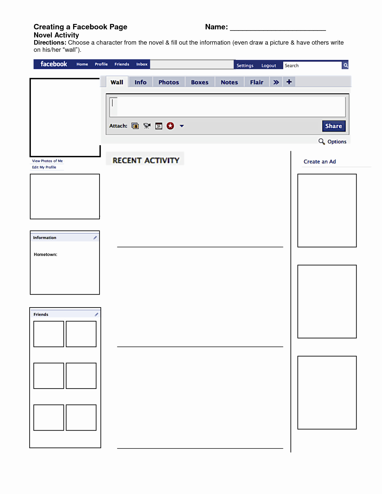 Facebook Post Template for Word New Best S Of Template to Print Page