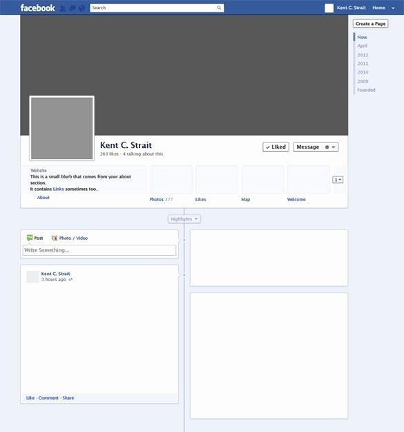 Facebook Post Template for Word New Page Template Beepmunk
