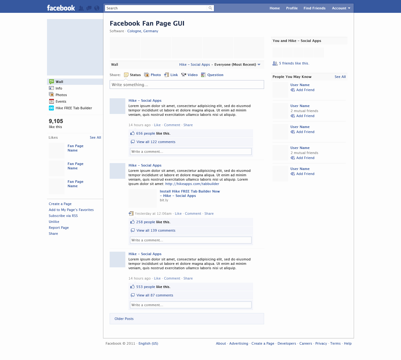 Facebook Post Template for Word Unique Blank Template