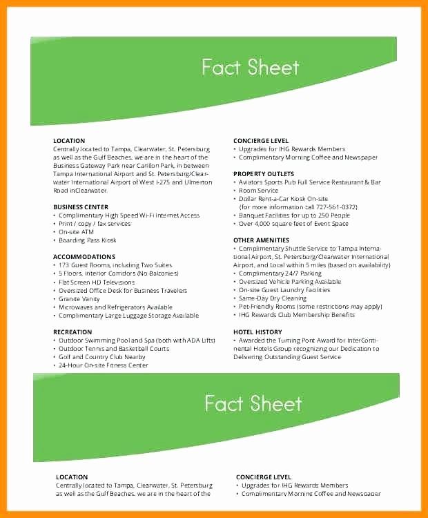 Fact Sheet Templates Microsoft Word Beautiful Free Fact Sheet Templates for Word Well Defined Template