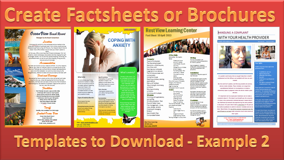 Fact Sheet Templates Microsoft Word Luxury Make A Brochure Factsheet that Rocks Microsoft Word