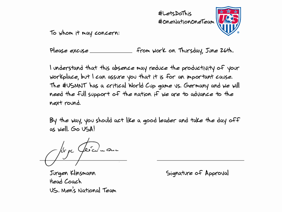 "Fake School Schedule for Work Elegant Huffpost Uk On Twitter "" Usa Coach Jurgen Klinsmann"