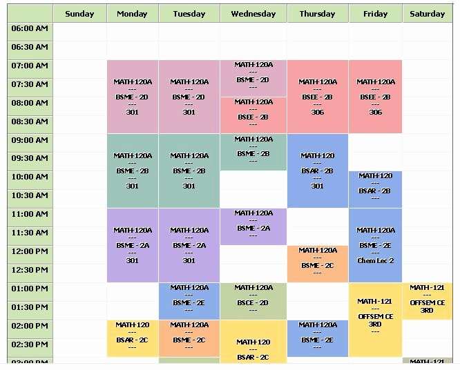 Fake School Schedule for Work Elegant Make A Class Schedule Report Stack Overflow