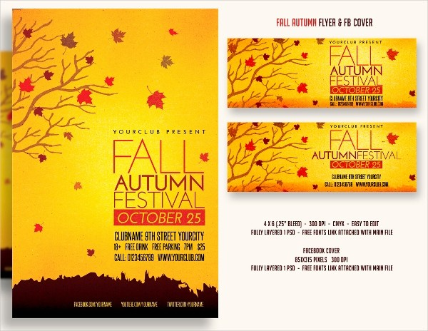 Fall event Flyer Template Free Awesome 28 Festival Flyer Free Psd Ai Vector Eps format