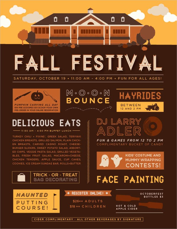 Fall event Flyer Template Free Awesome 44 event Flyer Examples Word Psd Ai Eps Vector