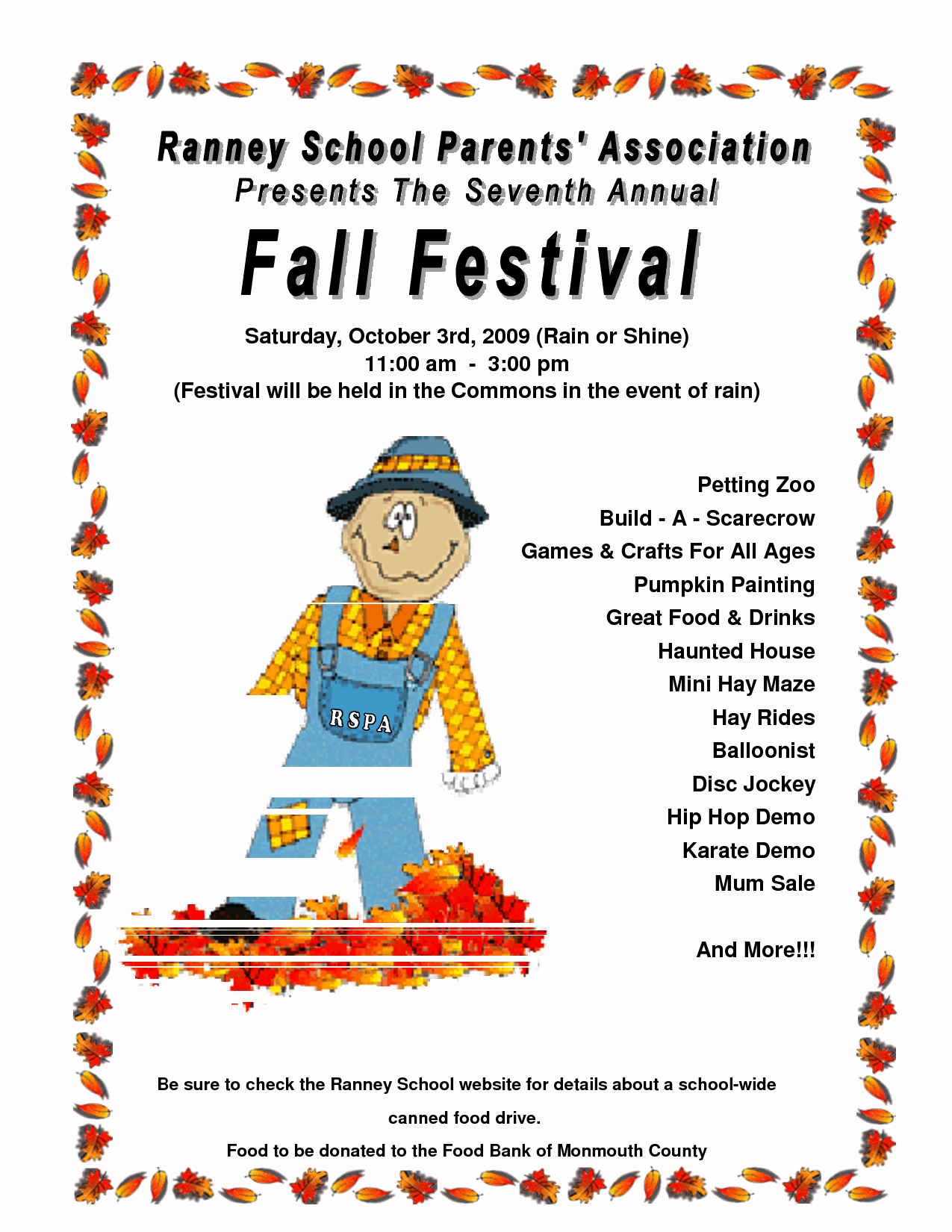 Fall event Flyer Template Free Awesome 7 Best Of Free Printable Fall Festival Flyer