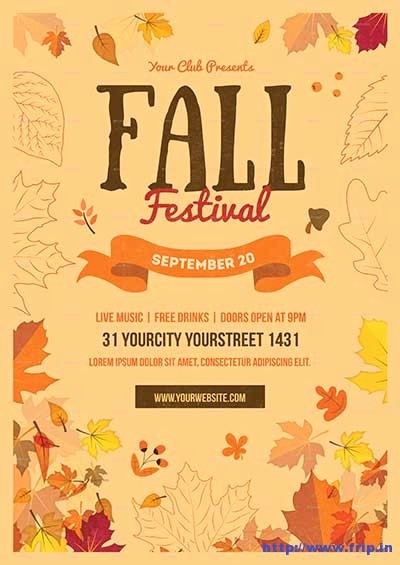 Fall event Flyer Template Free Awesome 80 Best Fall Festival Flyer Print Template 2018