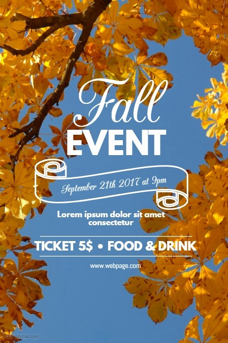 Fall event Flyer Template Free Awesome Fall event Flyer Template