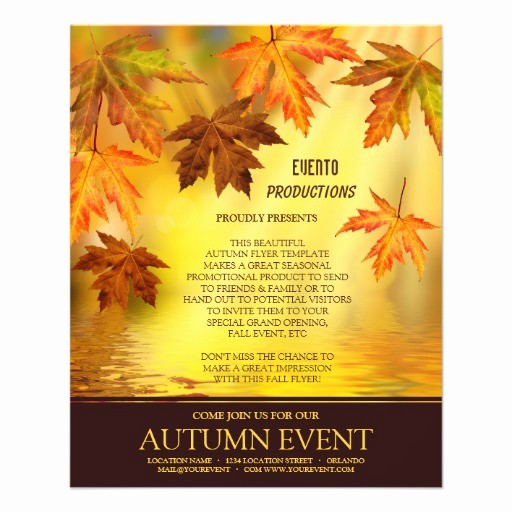Fall event Flyer Template Free Awesome Fall Party and event Flyer Template