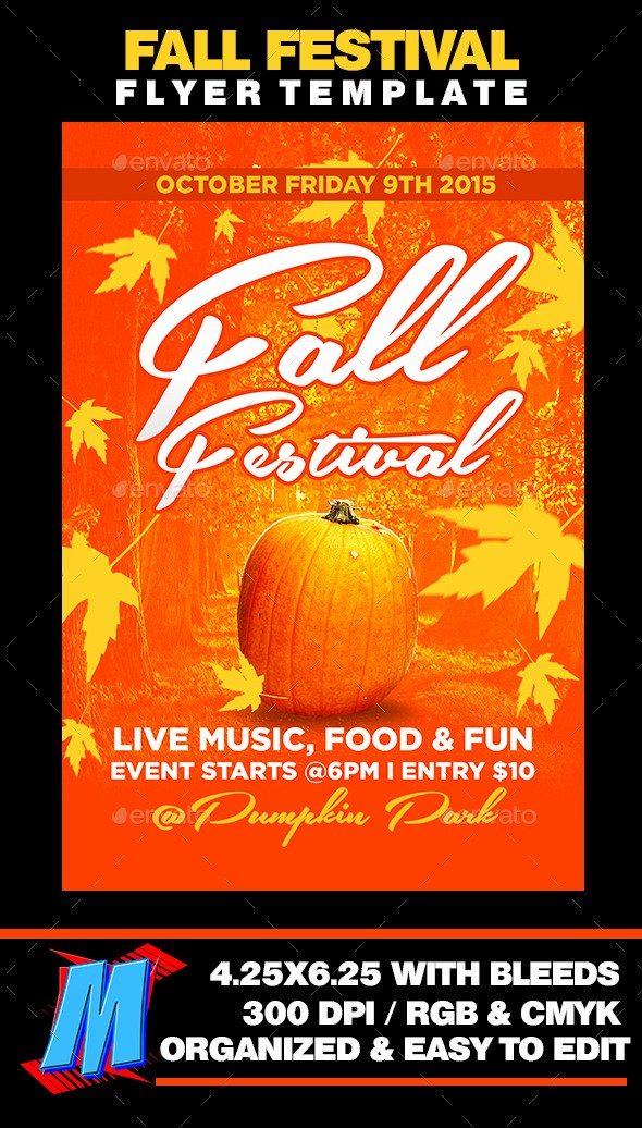 Fall event Flyer Template Free Awesome Free Printable Flyer Templates for Fall Festival Fixride
