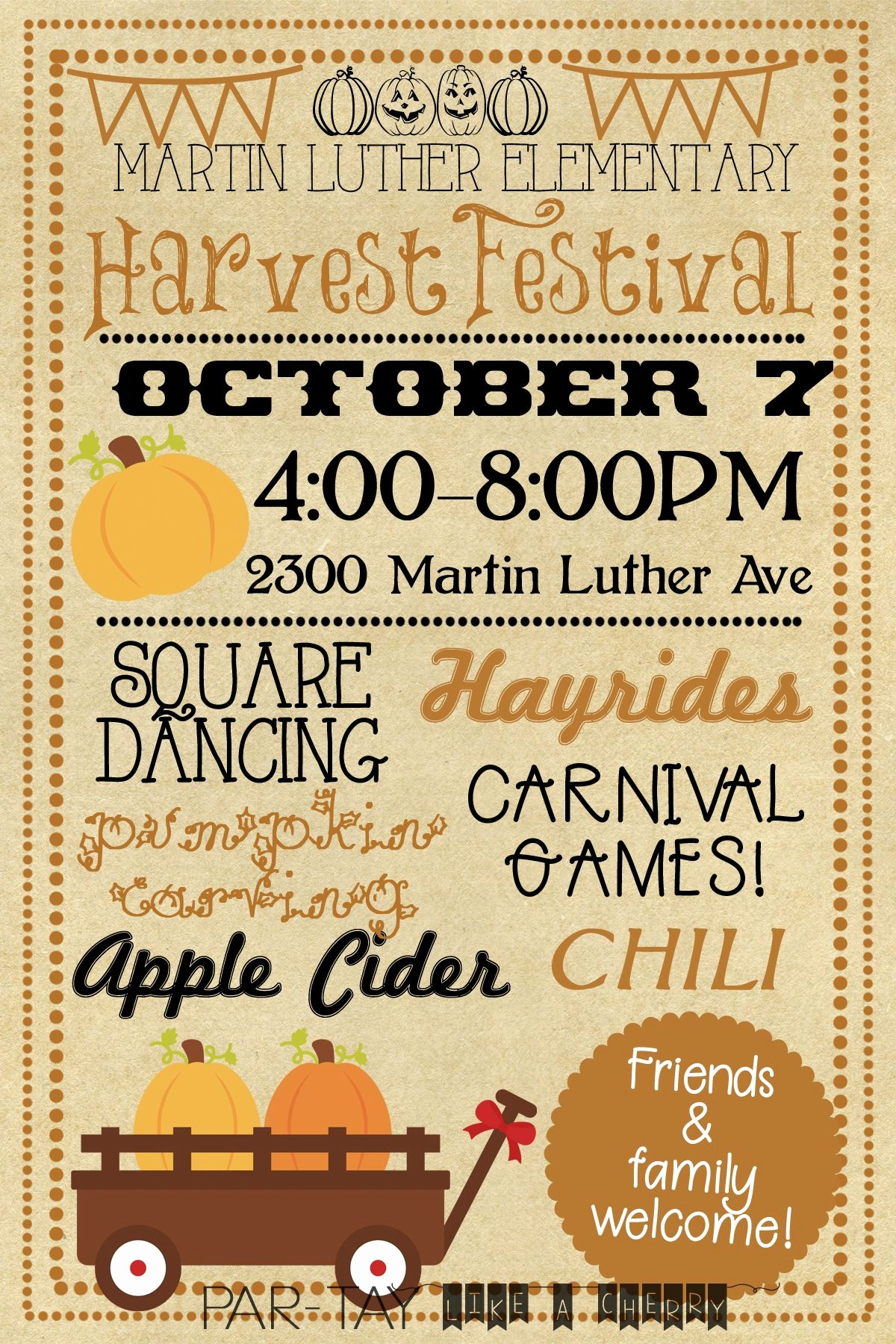 Fall event Flyer Template Free Awesome Harvest Festival Invitation