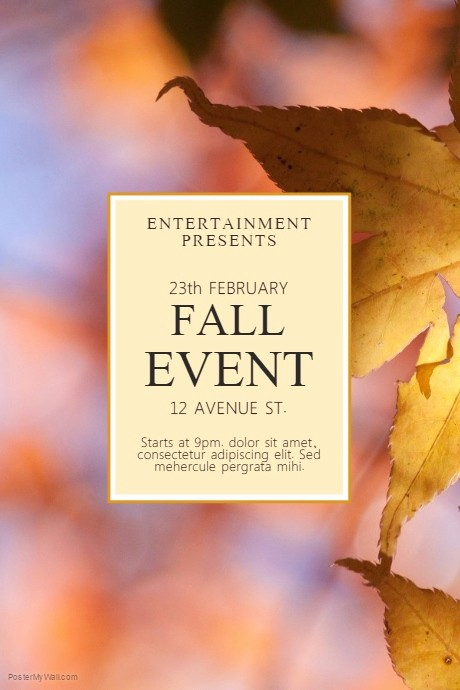Fall event Flyer Template Free Beautiful Fall event Flyer Template