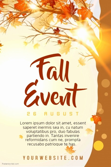 Fall event Flyer Template Free Beautiful Fall event Template