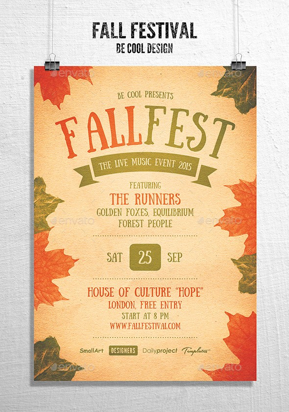 Fall event Flyer Template Free Beautiful Fall Festival Flyer Poster by Be Cool
