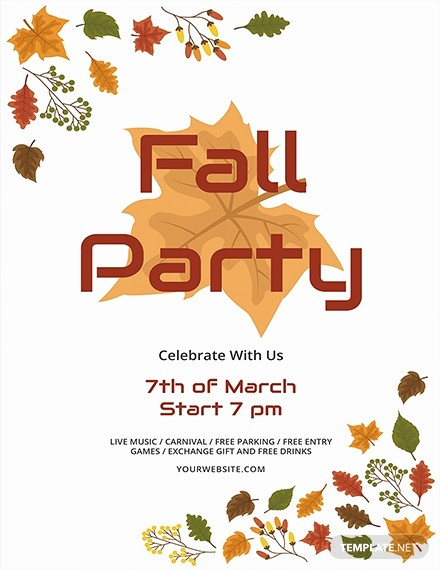 Fall event Flyer Template Free Beautiful Free Fall Bbq Party Flyer Template Download 675 Flyers