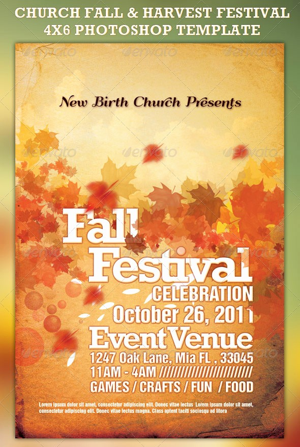 Fall event Flyer Template Free Best Of 19 Free Fall Festival Flyer Template Psd Fall
