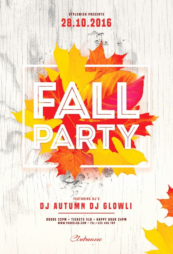 Fall event Flyer Template Free Best Of 628 Best Images About Flyer Design Templates On Pinterest