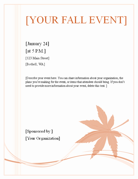 Fall event Flyer Template Free Best Of Download Fall event Flyer Free Flyer Templates for