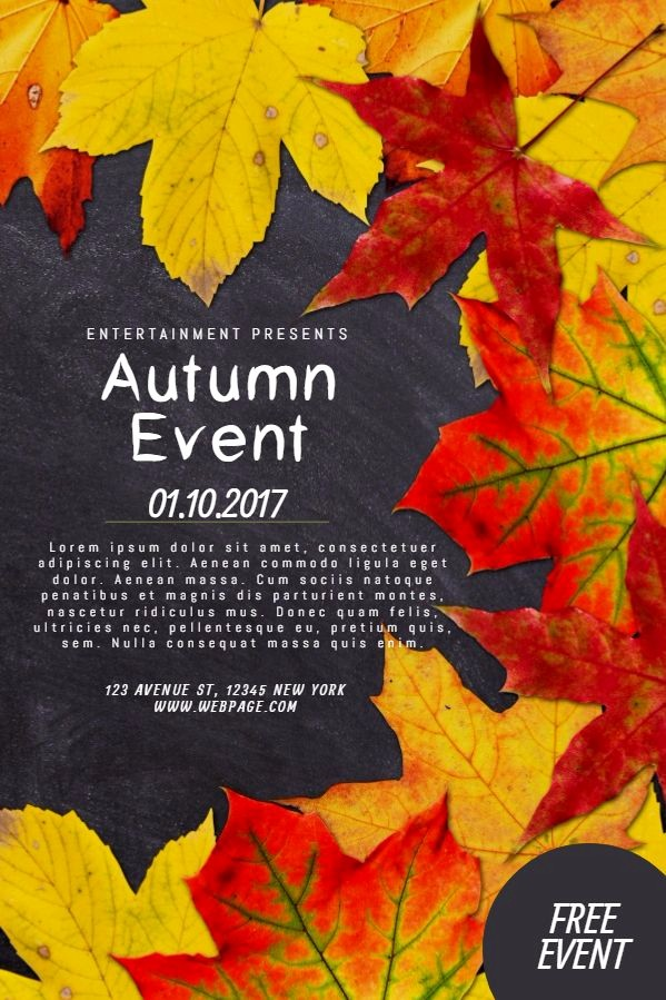 Fall event Flyer Template Free Elegant 38 Best Autumn Fall Posters Images On Pinterest