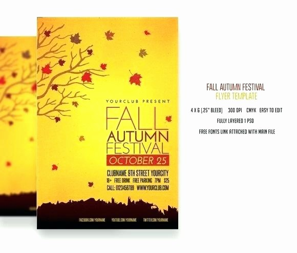Fall event Flyer Template Free Elegant Fall Festival Flyer Templates Free Template – Voipersracing