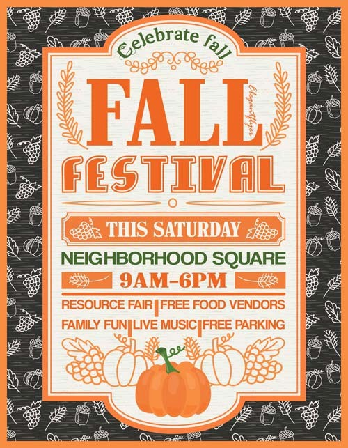 Fall event Flyer Template Free Elegant Fall Festival Free Party Flyer Template Download Free Flyer