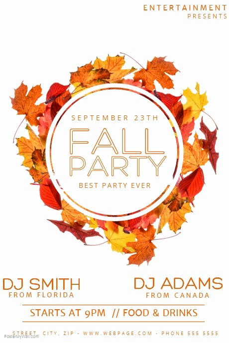 Fall event Flyer Template Free Fresh Copy Of Fall Party Flyer Template