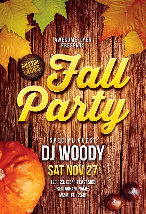 Fall event Flyer Template Free Fresh Download the Fall Party Flyer Template for Shop