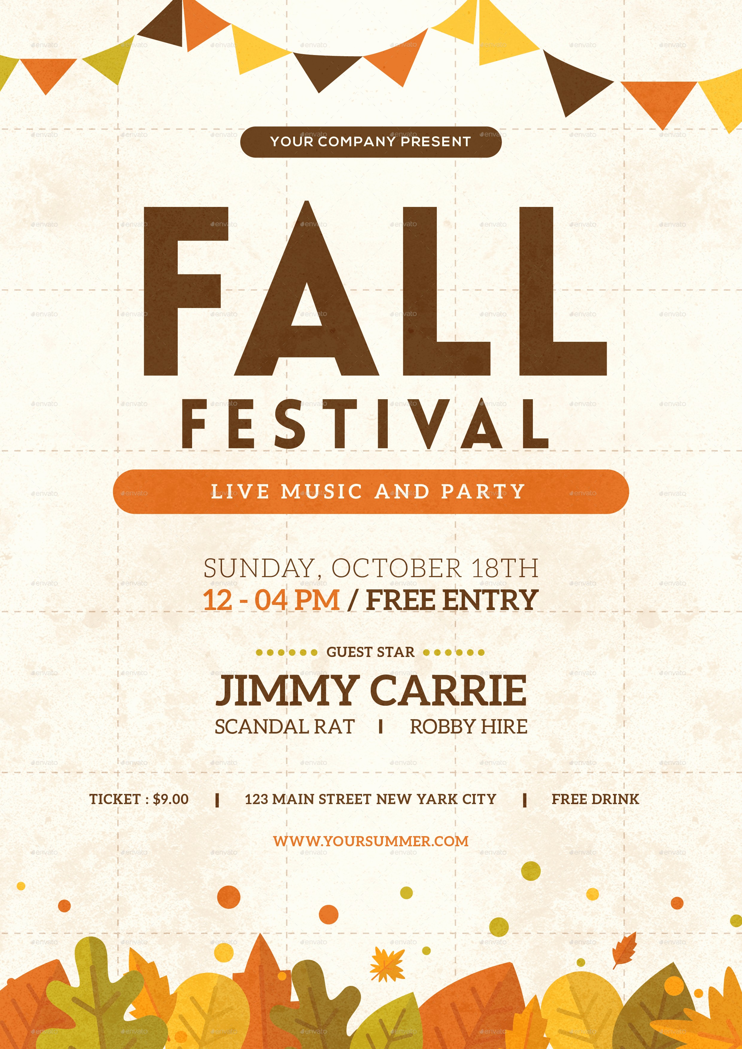 Fall event Flyer Template Free Fresh Fall Festival Flyer by tokosatsu