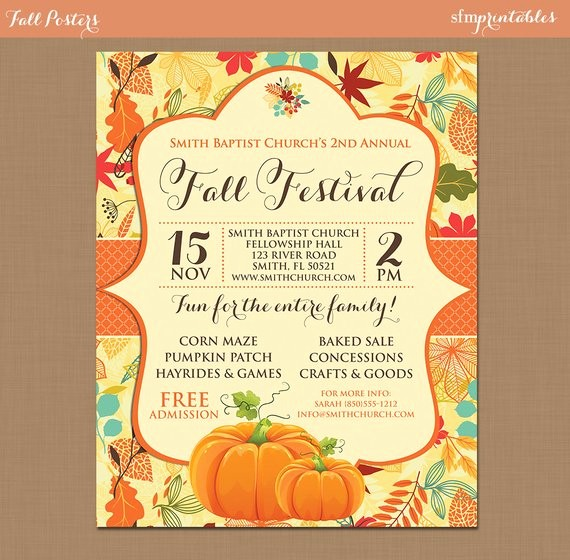 Fall event Flyer Template Free Fresh Fall Festival Harvest Invitation Poster Pumpkin Patch Farm