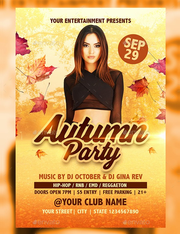 Fall event Flyer Template Free Inspirational 19 Autumn Party Flyer Templates Free Psd Eps
