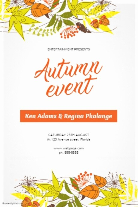 Fall event Flyer Template Free Lovely Autumn Fall event Flyer Template