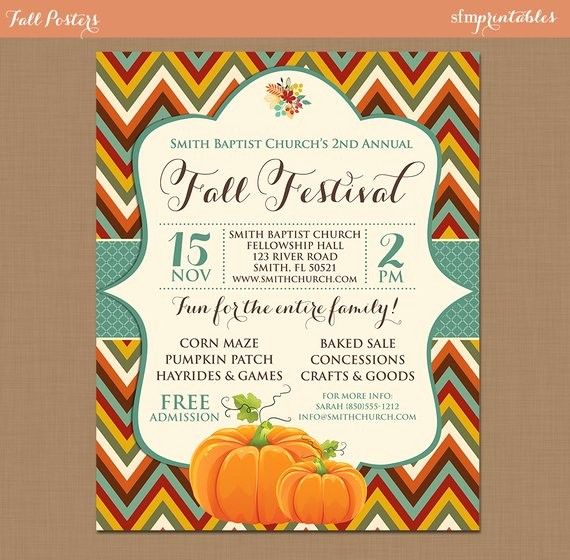 Fall event Flyer Template Free Lovely Fall Festival Harvest Invitation Poster Pumpkin Patch Farm