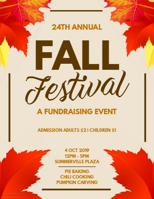 Fall event Flyer Template Free Luxury Fall Festival Fundraising Flyer Template