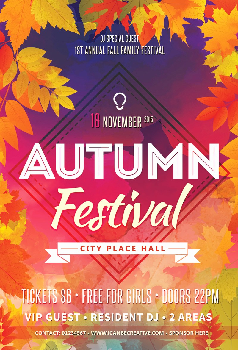 Fall event Flyer Template Free Luxury Free Psd Flyer Templates for Autumn Сelebration Party