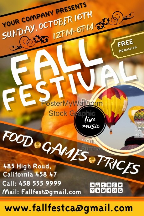 Fall event Flyer Template Free New Copy Of Fall Festival4
