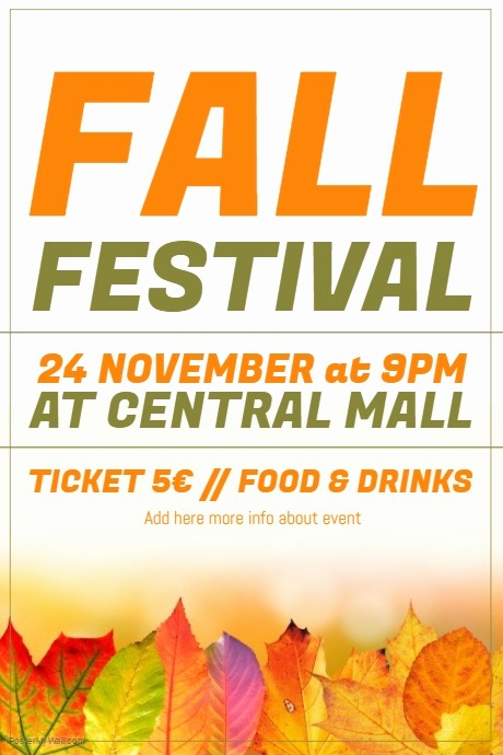 Fall event Flyer Template Free New Fall Autumn Festival event Flyer Template