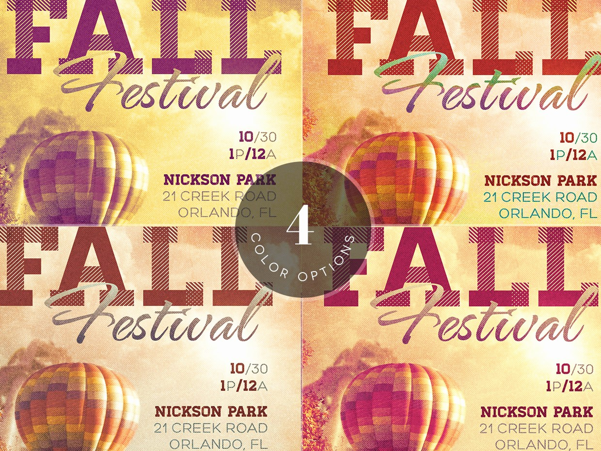 Fall event Flyer Template Free New Fall Festival event Flyer Template Preview3 O
