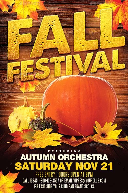 Fall event Flyer Template Free Unique Best Of Autumn Flyer Templates Free and Premium Flyer