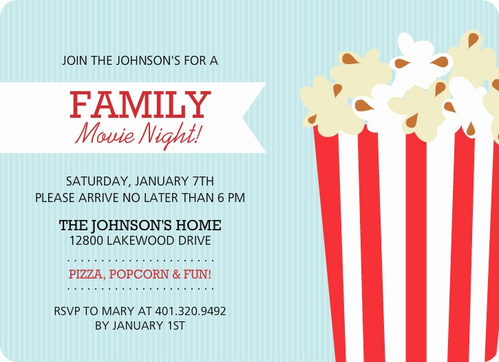 Family Fun Night Flyer Template Awesome 4 Best Of Popcorn Movie Ticket Template Printable