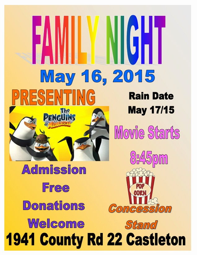 Family Fun Night Flyer Template Awesome Family Night Flyer Yourweek 7cd285eca25e