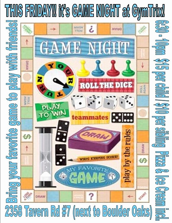 Family Fun Night Flyer Template Awesome Game Night Flyer Game Night Party Pinterest