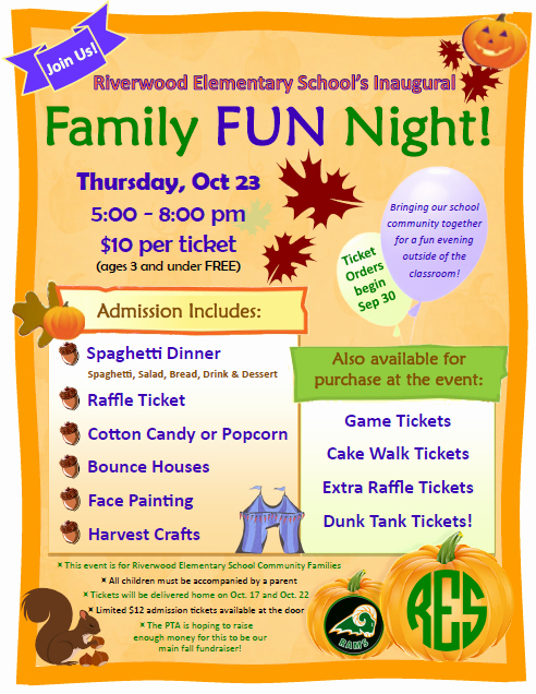 Family Fun Night Flyer Template Awesome the Gallery for Parent Meeting Flyer Template