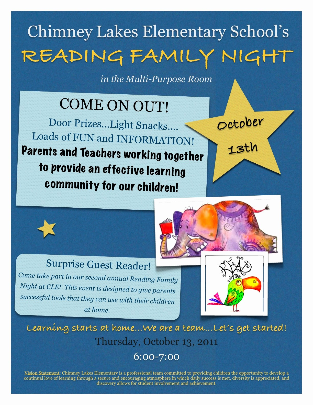 Family Fun Night Flyer Template Beautiful Third Grade S A Hoot Reading Family Night