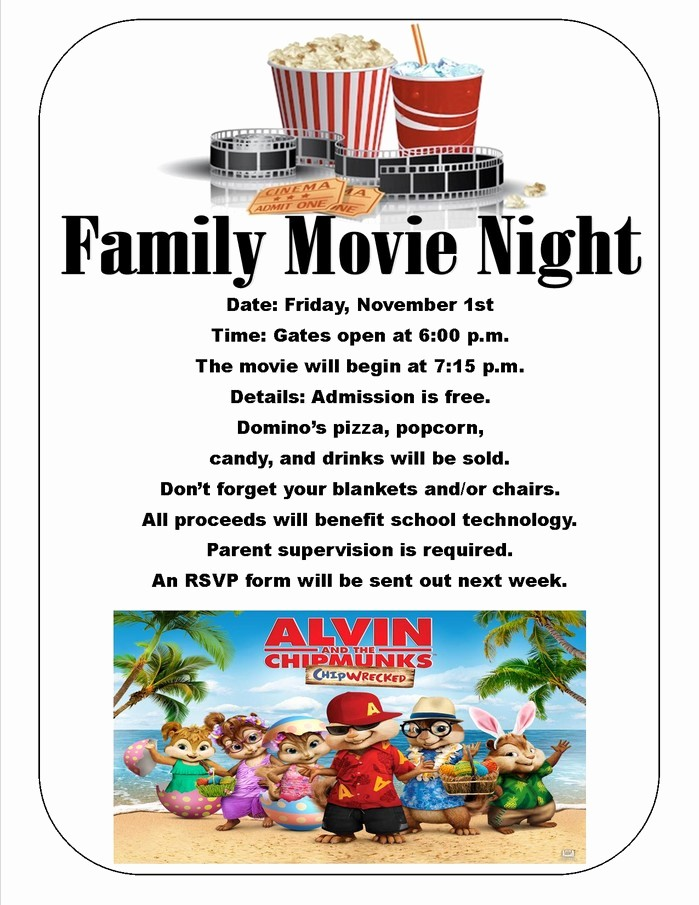 Family Fun Night Flyer Template Best Of 8 Best Of Printable Family Movie Night Flyer