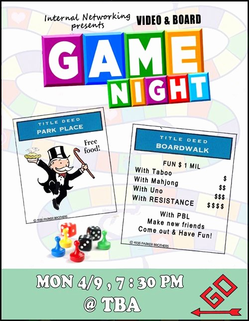 Family Fun Night Flyer Template Elegant Game Night Flyer Game Night Party Pinterest