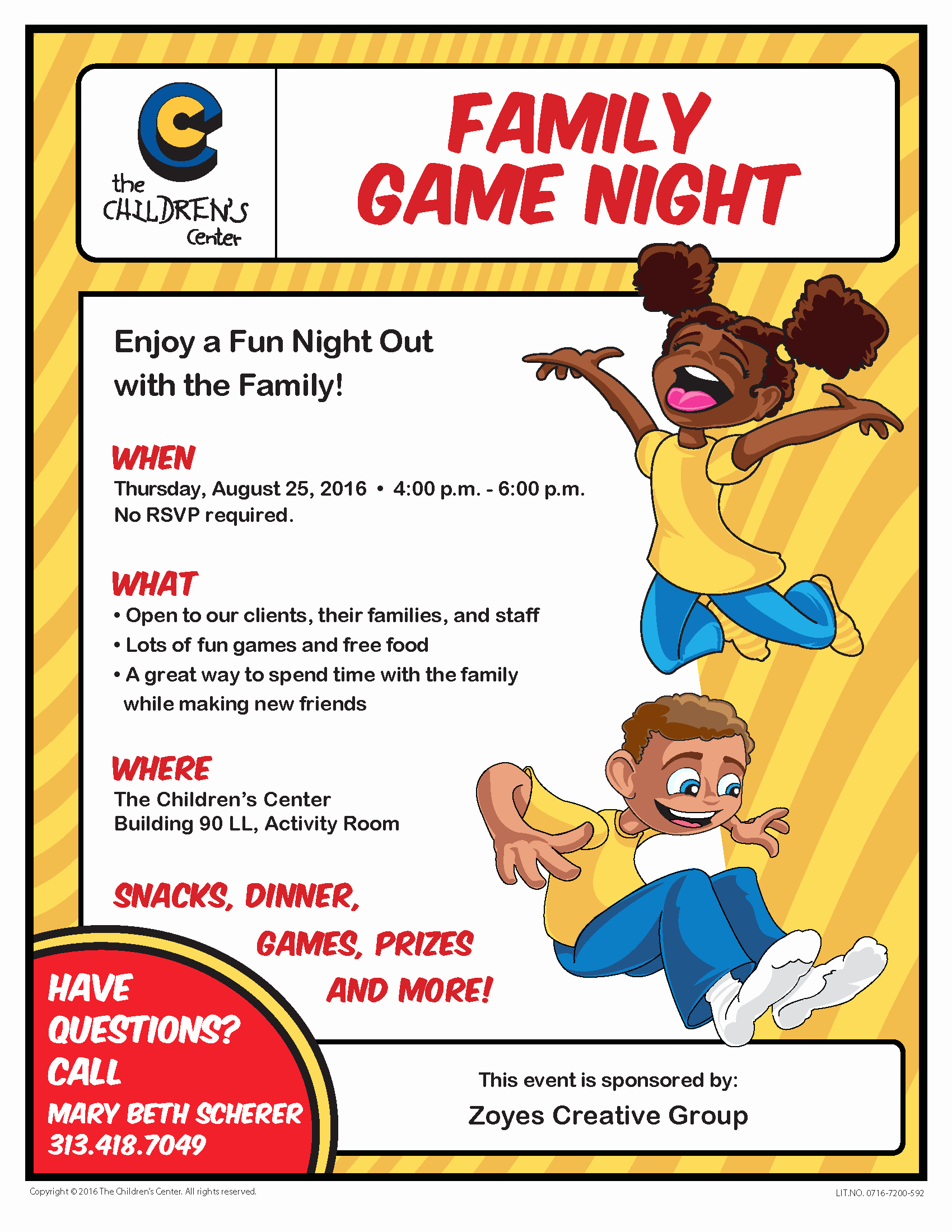 Family Fun Night Flyer Template Fresh Family Game Night