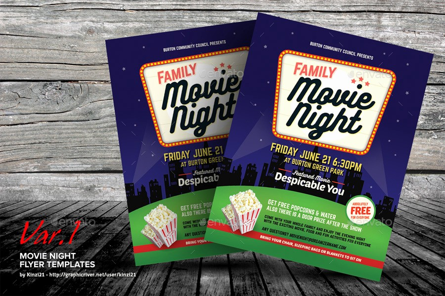 Family Fun Night Flyer Template Fresh Family Movie Night Flyer Template Yourweek A3097eeca25e
